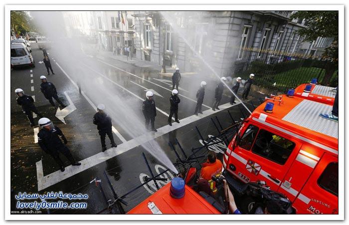 إضراب رجال الإطفاء