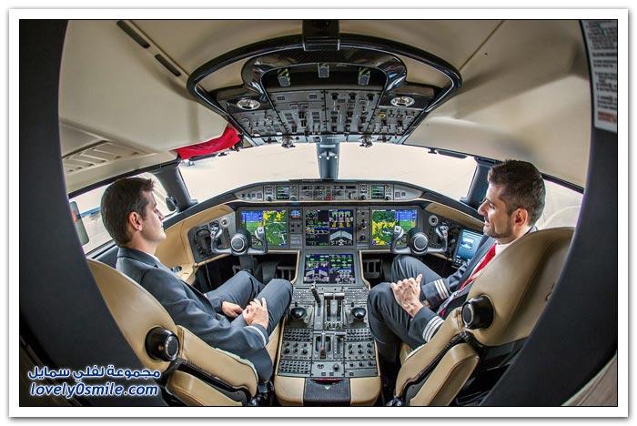 صور من داخل طائرات رجال الأعمال