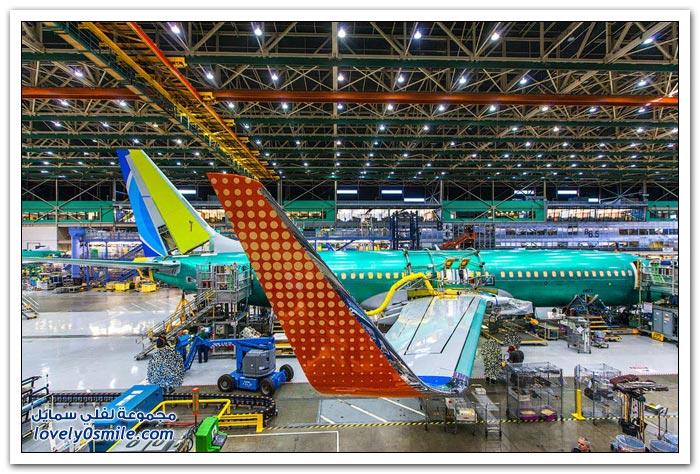 صور من مصنع بوينغ للطائرات