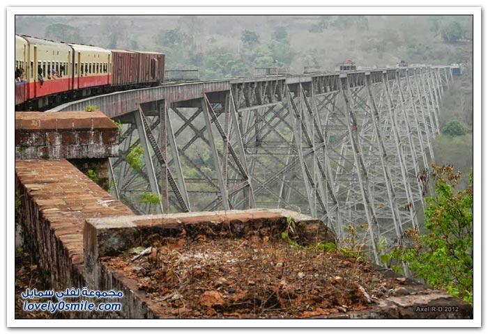 جسر Goteik في ميانمار