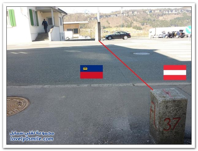 الحدود بين بعض دول العالم