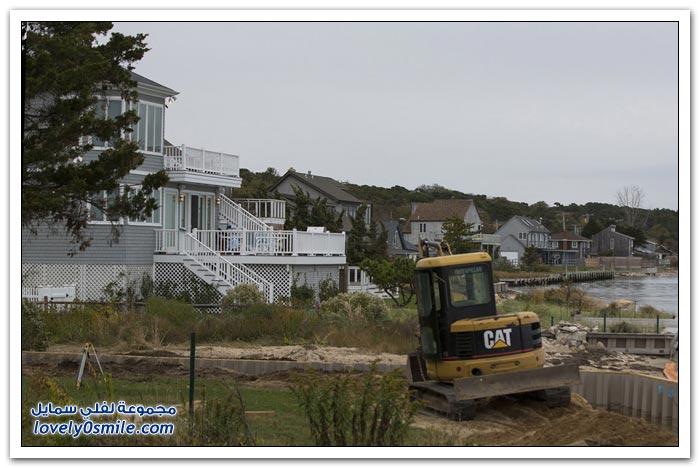 صور أثناء إعصار ساندي وبعد سنة من الإعصار