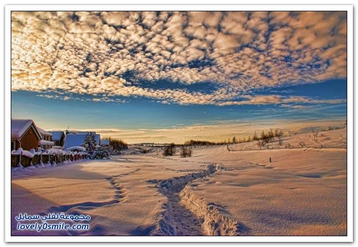 مناظر جميلة لفصل الشتاء