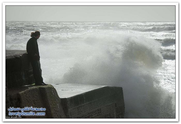 اصطدام الأمواج