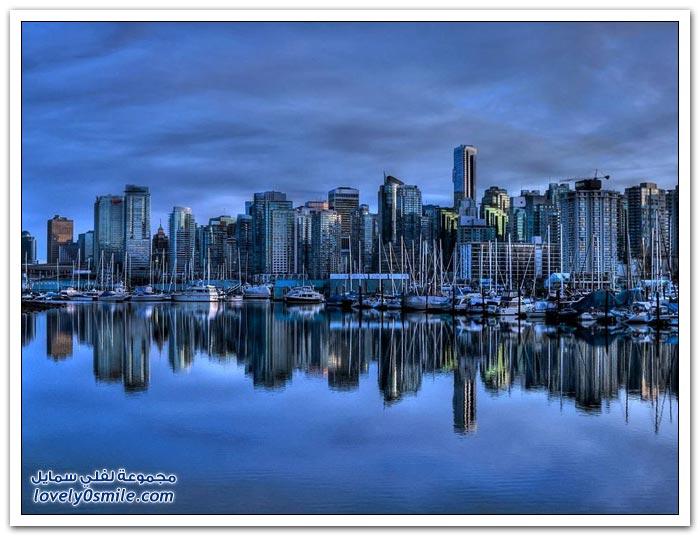 صور لانعكاس مباني المدن حول العالم على سطح الماء