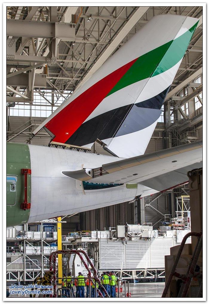 صور من مصنع أكبر طائرة ركاب في العالم