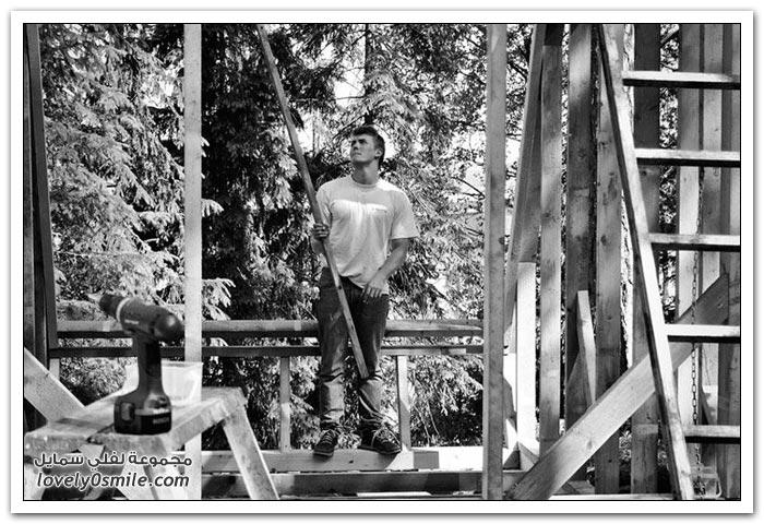 كوخ صغير في الغابة