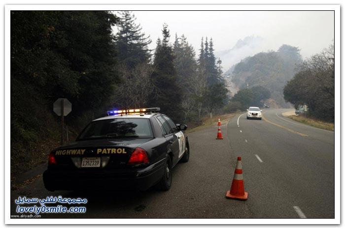 مكافحة حرائق غابات كاليفورنيا