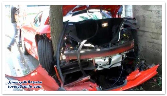 حوادث سيارات فيراري