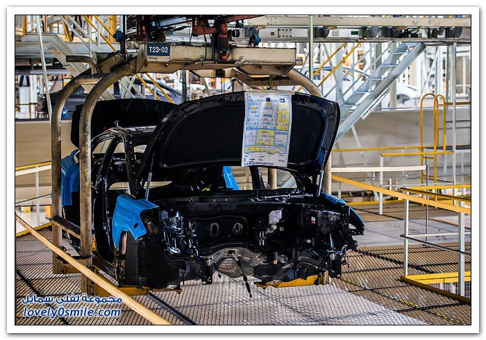 مصنع سيارات هيونداي في كوريا الجنوبية