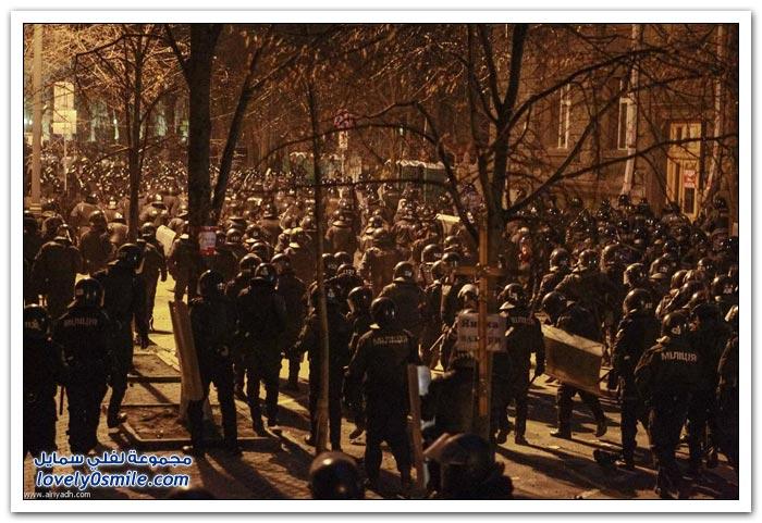 مظاهرات حاشدة في أوكرانيا