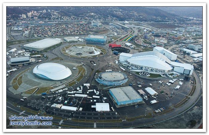 صور للمرافق الأولمبية في مدينة سوتشي الروسية من طائرة مروحية