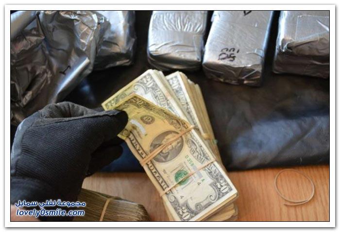 تهريب أموال داخل باب سيارة