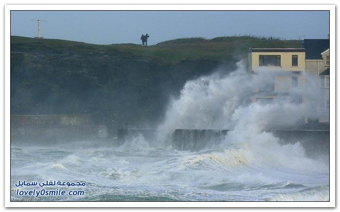 عاصفة تضرب اسكتلندا