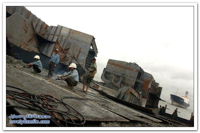 تدمير السفن في بنجلاديش والهند