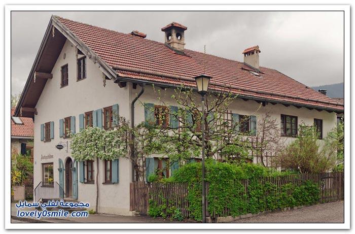 قرية رائعة في جبال الألب البافارية