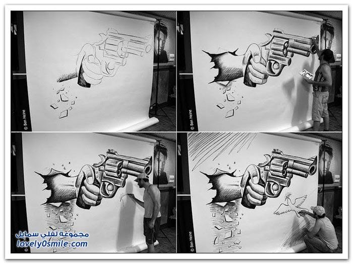 رسومات إبداعية ثلاثية الأبعاد