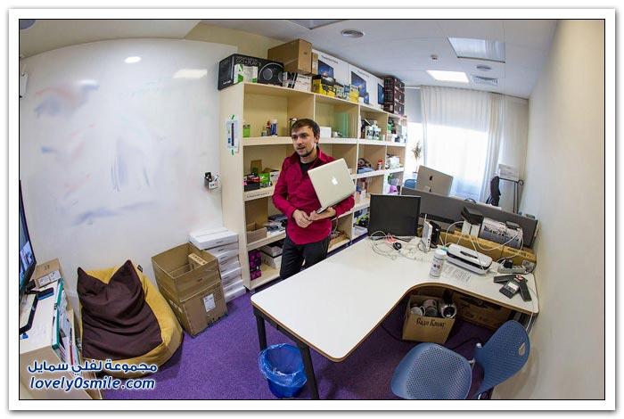 أحد مكاتب محرك البحث ياندكس الشبيه بجوجل