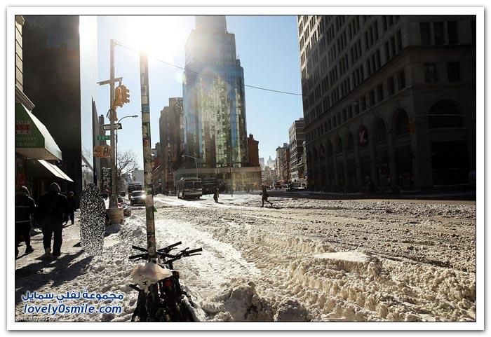 أمريكا في مواجهة عاصفة ثلجية