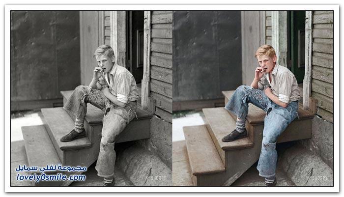 صور قديمة أبيض وأسود كيف أصبحت بعد تلوينها
