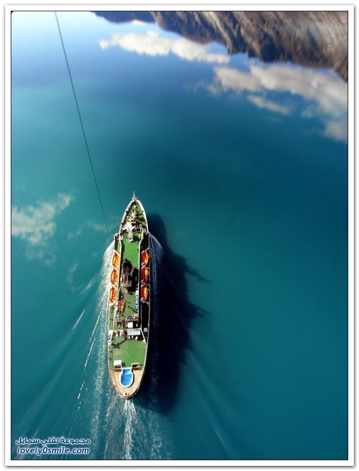 صور جوية من طائرة ورقية