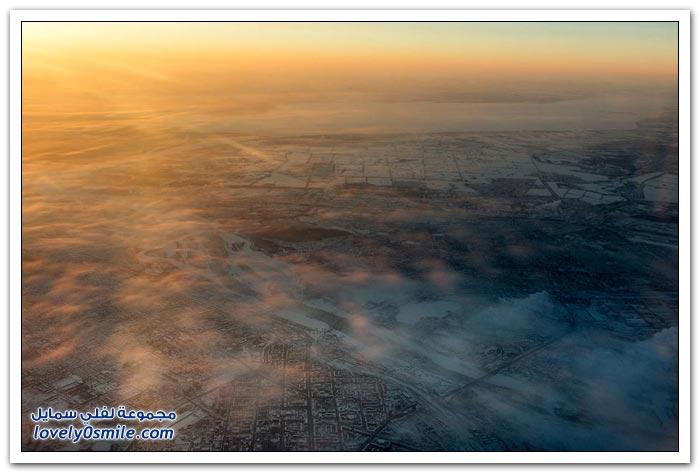 صور لمدن من الطائرة حول العالم