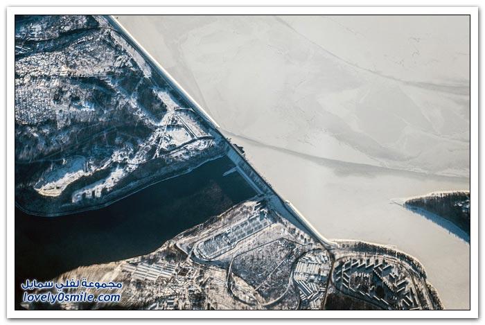 صور لمدن حول العالم من نافذة طائرة