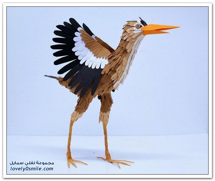 طيور من الورق