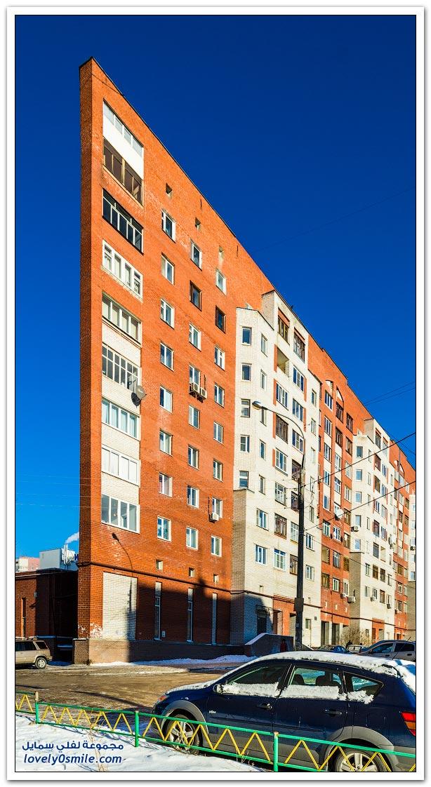 بناية غير عادي في مدينة نيجني نوفغورود الروسية