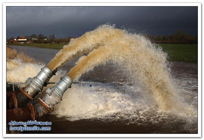 الفيضانات في جنوب غرب إنجلترا
