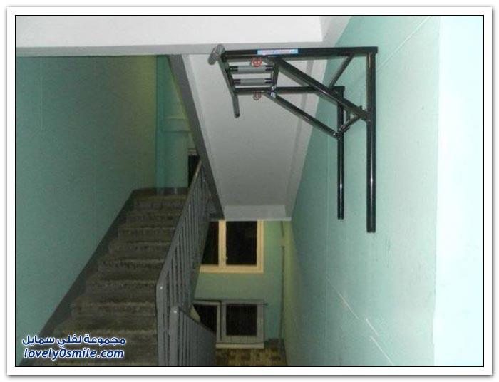 صالة رياضية على الدرج
