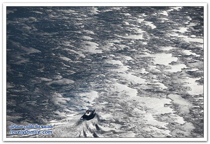 الجليد يغطي بحيرة ميشيغان
