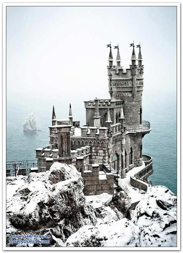 القصور والقلاع في فصل الشتاء