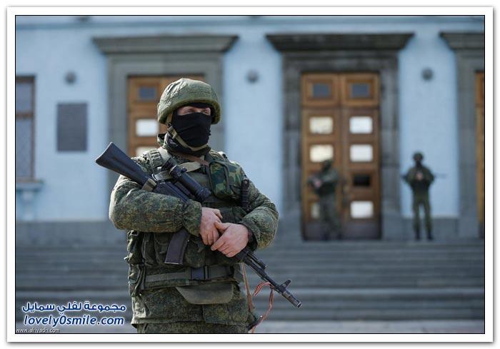 الجيش الروسي يدخل القرم