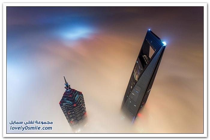 صور من أعلى برج شنغهاي