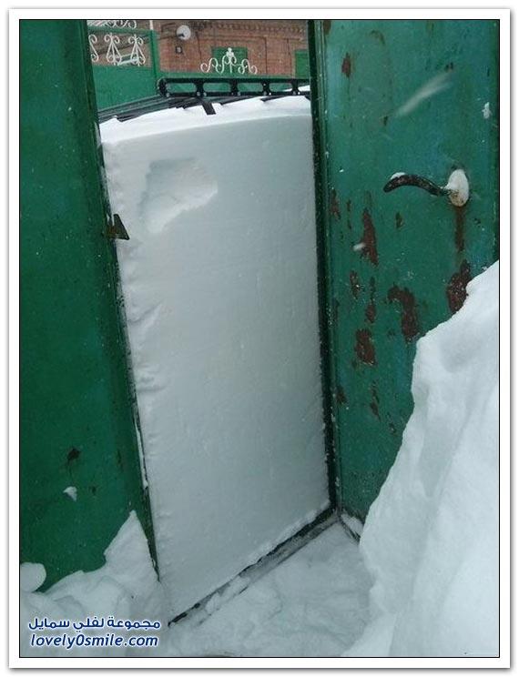 الثلوج في مدينة روستوف الروسية