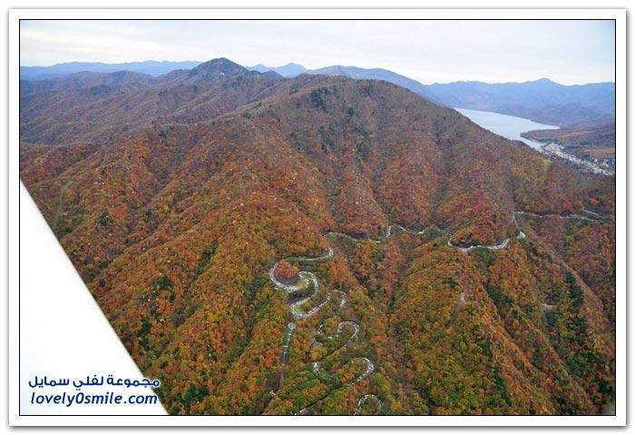 الطريق المتعرج في اليابان