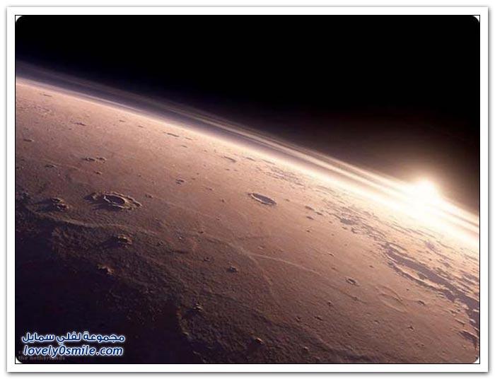 شروق الشمس على كوكب المريخ