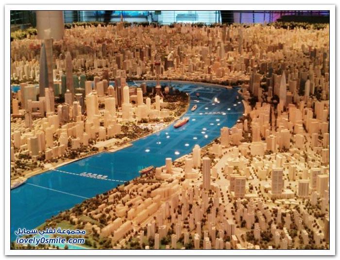 نموذج مدهش لمدينة شنغهاي عام 2020م