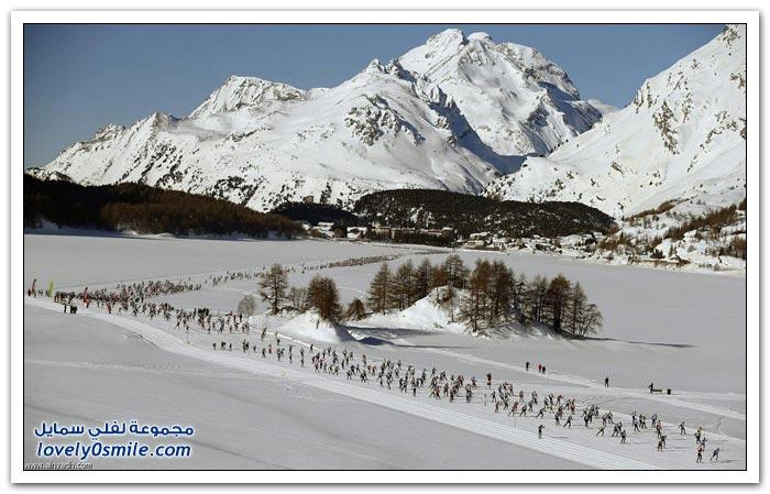 ماراثون الجليد في سويسرا