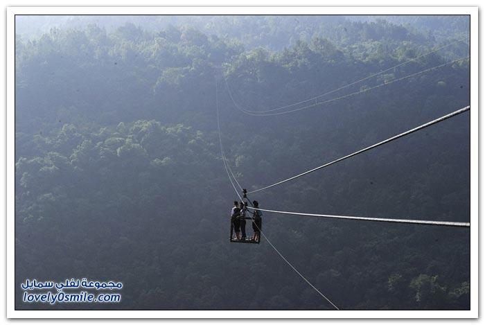 الطريق الخطير لقرية يوشان الجبلية الصينية