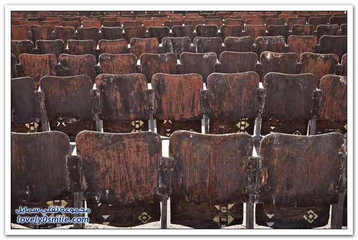 مسرح مهجورة في جنوب شبه جزيرة سيناء في مصر