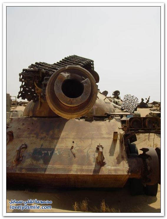 مقبرة للدبابات في الكويت من مخلفات حرب الخليج