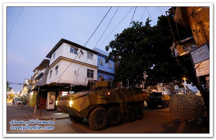 الجيش البرازيلي يحتل الأحياء الفقيرة
