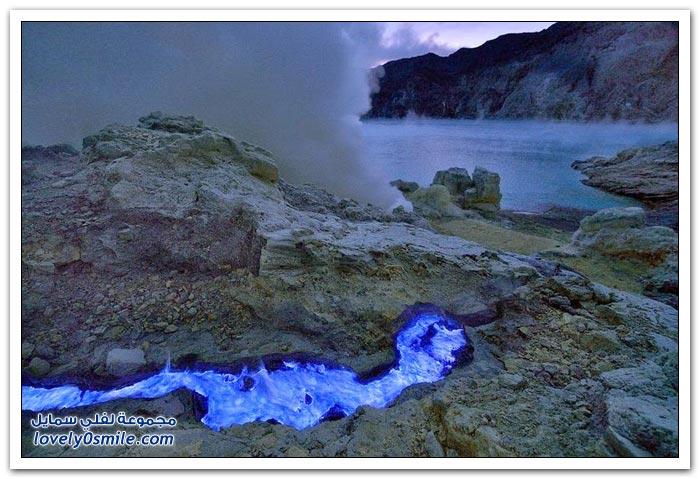 كواه أيجن البركان الذي ينفث اللهب الأزرق
