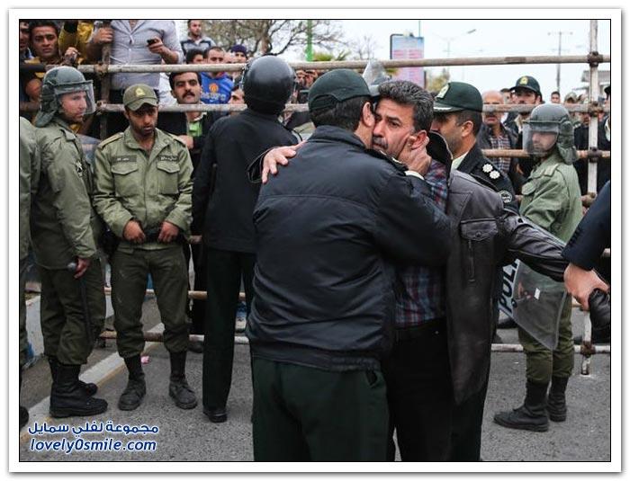 أم إيرانية تصفع قاتل ابنها وتنقذه من حبل المشنقة