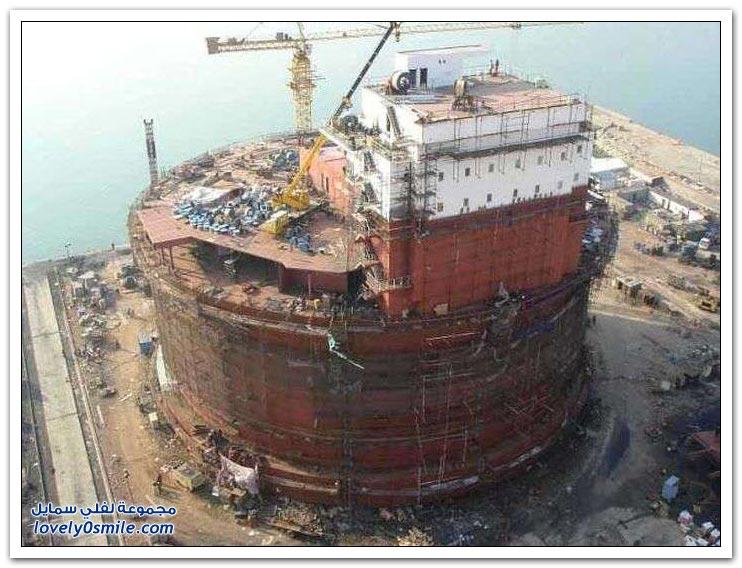 بناء منصة نفطية
