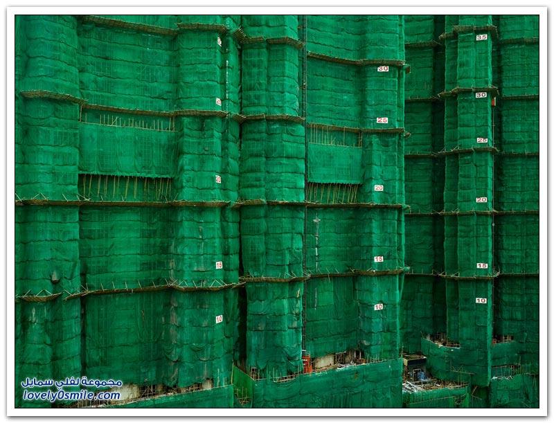 مباني هونج كونج أثناء البناء