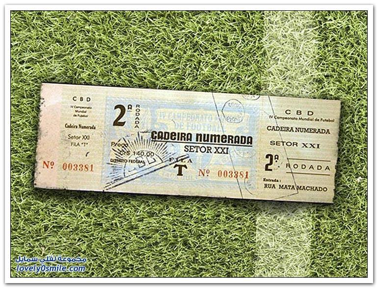 كيفية تغير تصميم تذاكر كأس العالم من 1930-2014م؟