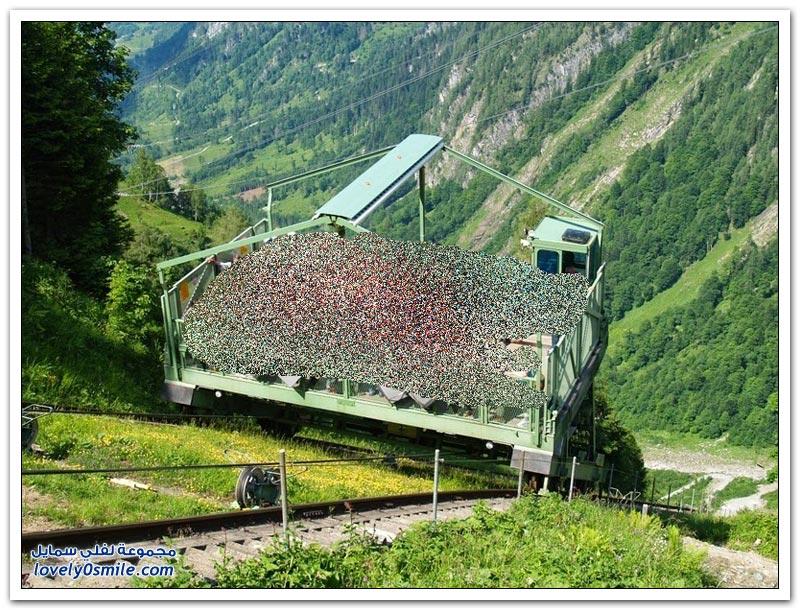 القطار المائل في كابرون في النمسا